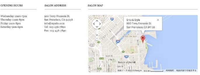 お店の地図と連絡先